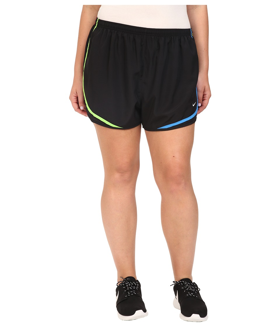 Nike - Dry Tempo Running Short (Size 1X-3X) (Black/Black/Noble Red/Wolf Grey) Women's Shorts