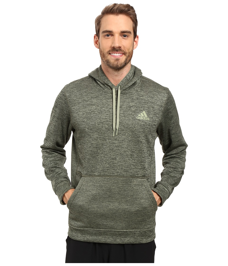 adidas - Team Issue Fleece Pullover Hoodie (Olive Cargo Heather/Tent Green) Men's Sweatshirt