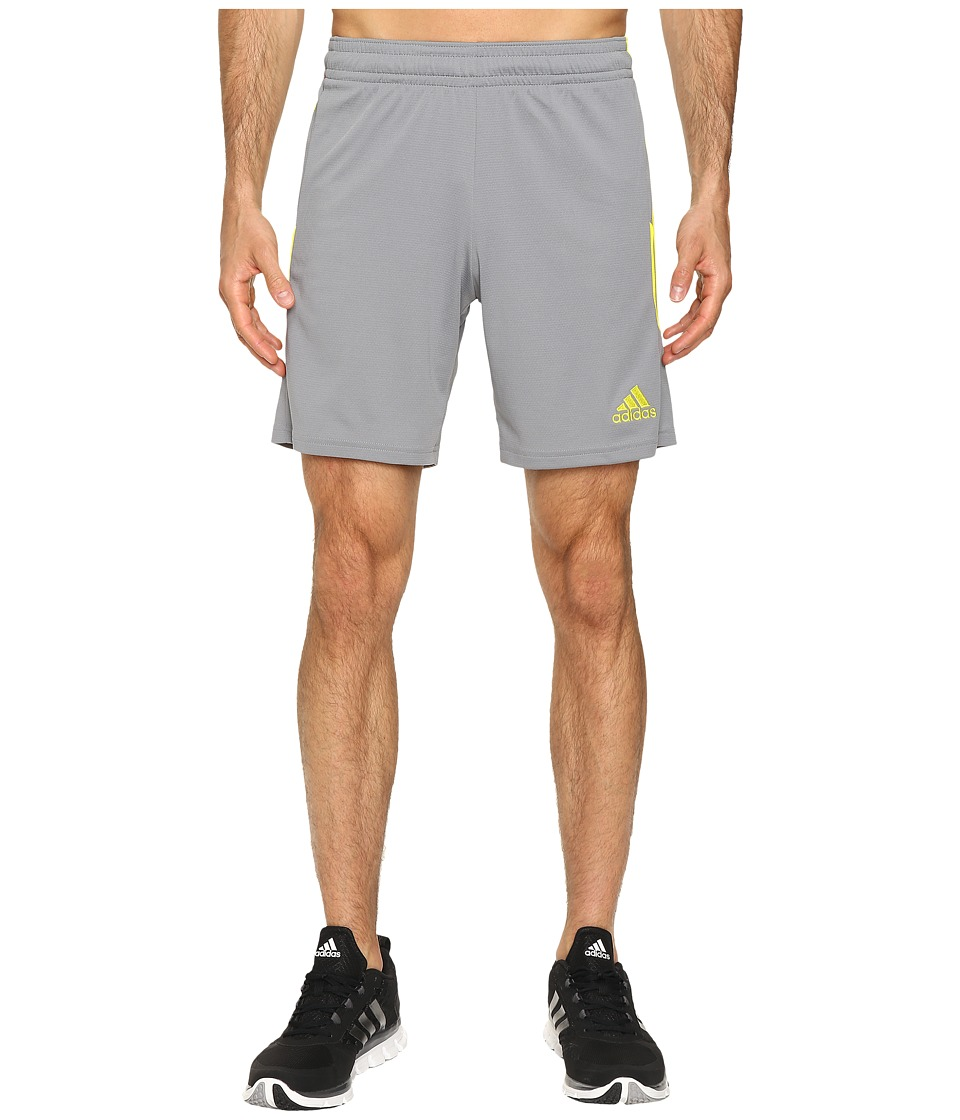 adidas - Squadra 13 Short (Grey/Shock Slime) Men's Shorts