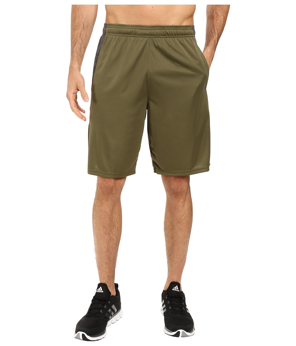 adidas - Aeroknit Decoy Burnout Shorts (Olive Cargo/Black) Men's Shorts