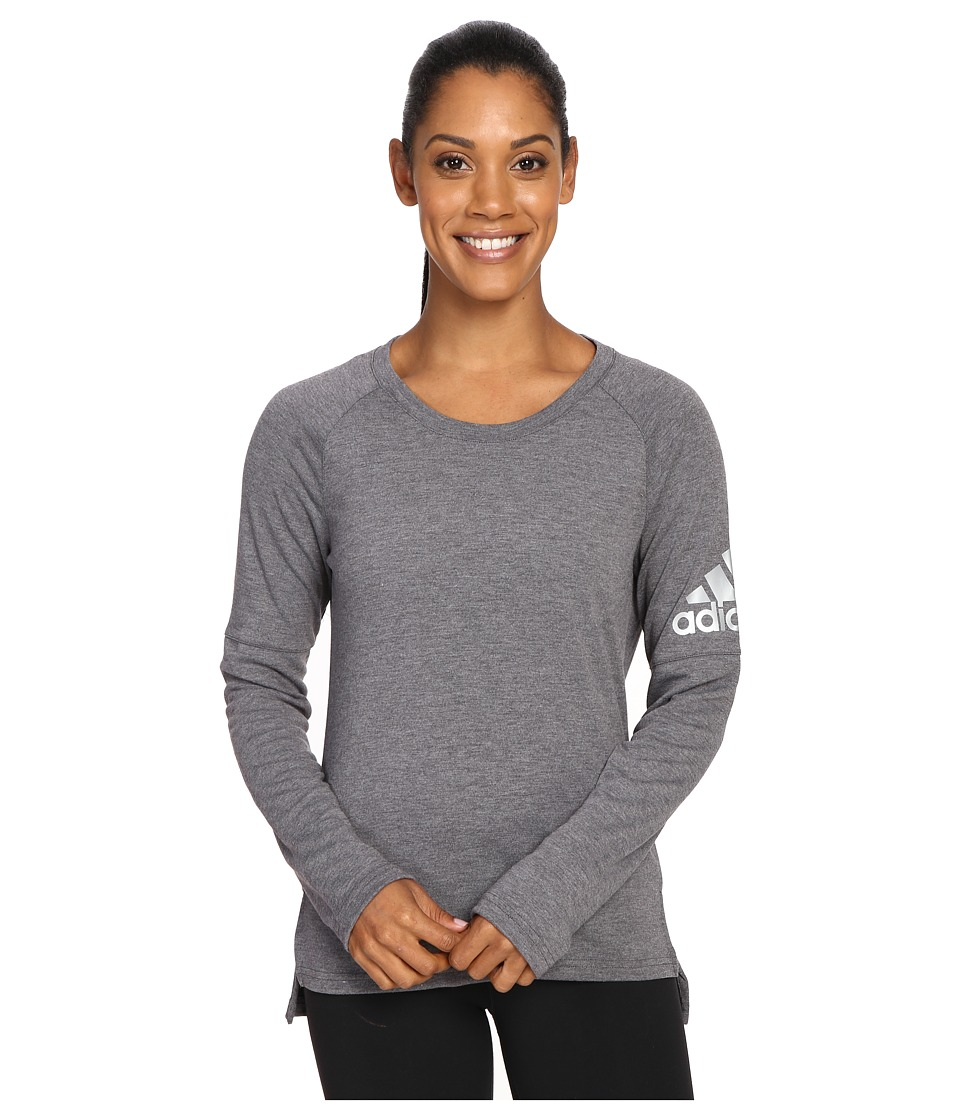 adidas - Performer Cover-Up (Utility Black/Utility Black/Matte Silver) Women's Long Sleeve Pullover