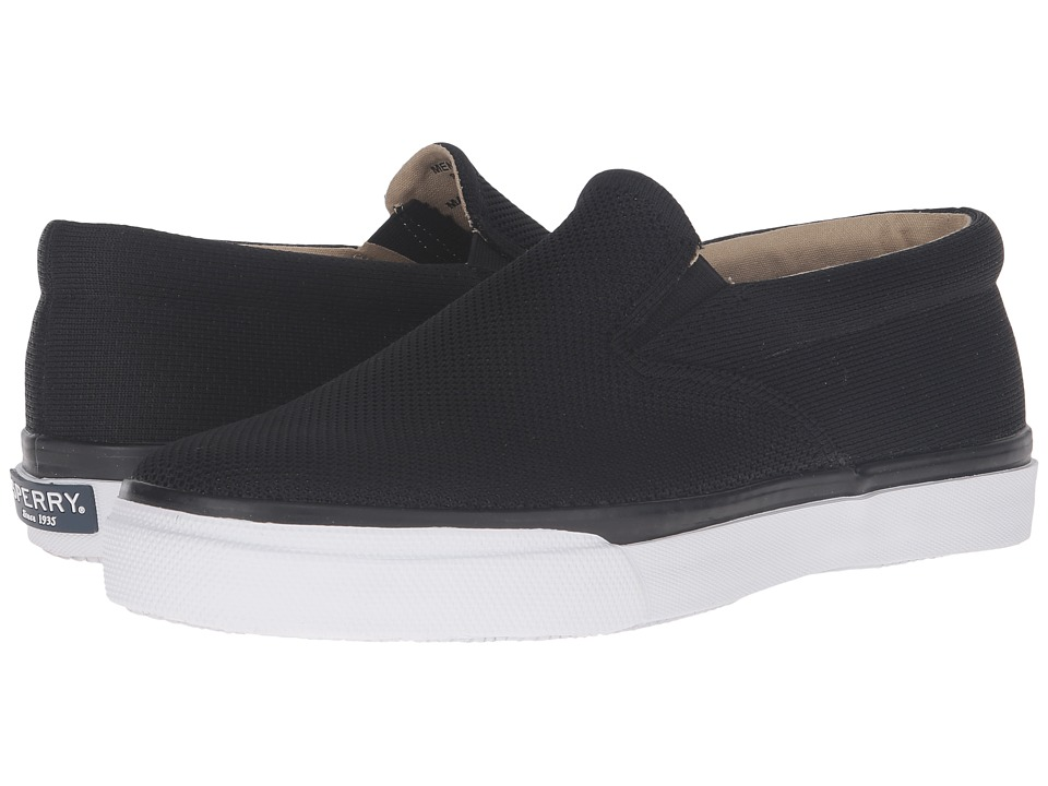 Sperry - Striper Slip-On Knit (Black) Men's Slip on Shoes