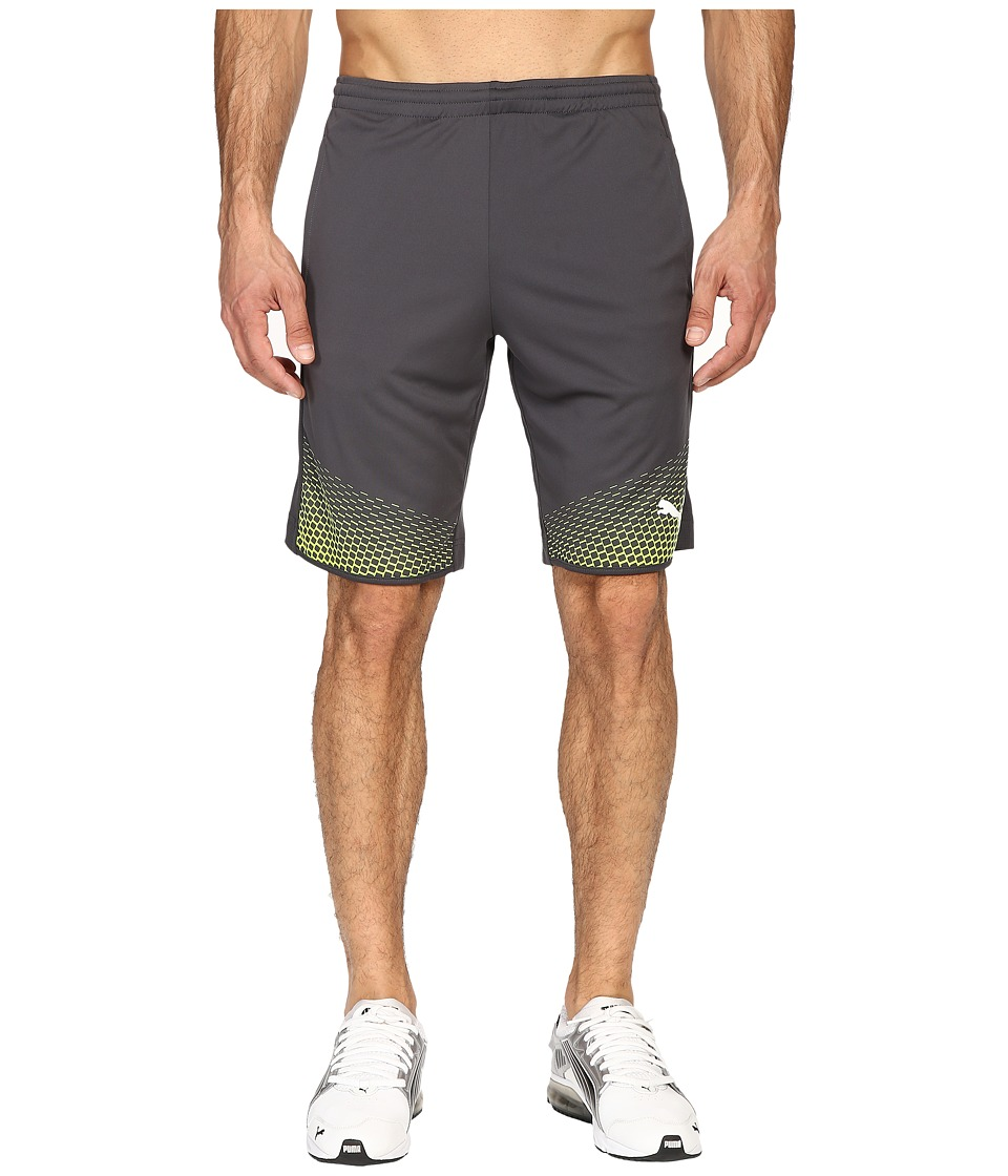 PUMA - IT EVOTRG Shorts Touch (Asphalt/Safety Yellow) Men's Shorts