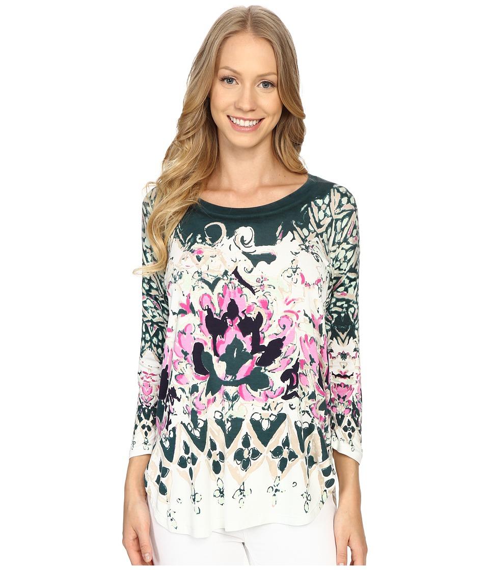 NIC+ZOE - Rosette Top (Multi) Women's Clothing
