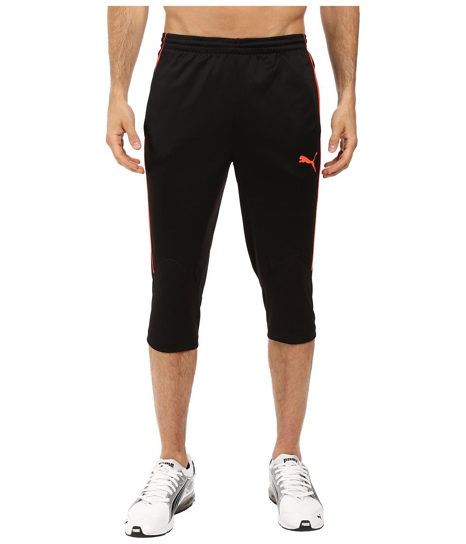 PUMA - IT EVOTRG 3/4 Pants (Puma Black/Red Blast) Men's Casual Pants