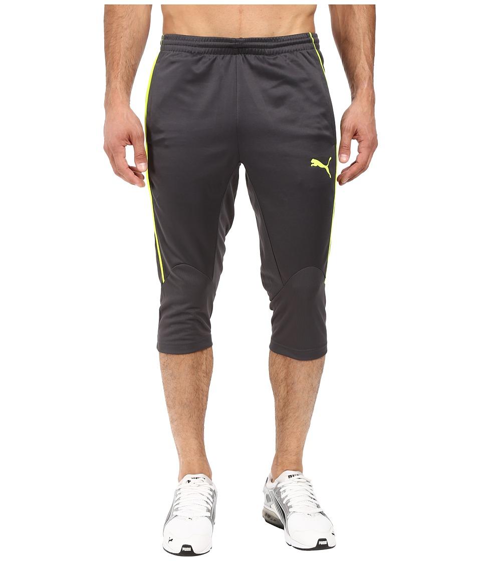 PUMA - IT EVOTRG 3/4 Pants (Asphalt/Safety Yellow) Men's Casual Pants
