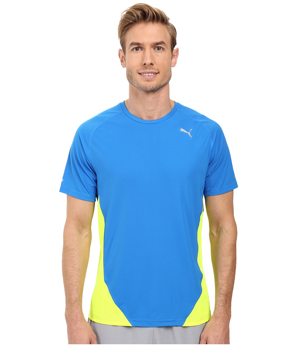 PUMA - Graphic Short Sleeve Tee (Electric Blue Lemonade/Graphic Black Panel) Men's T Shirt