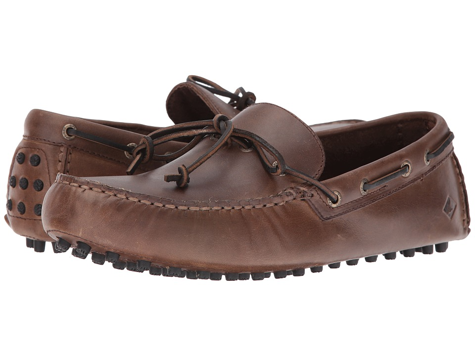 Sperry Top-Sider - Hamilton Driver 1-Eye (Brown 2) Men's Slip on Shoes