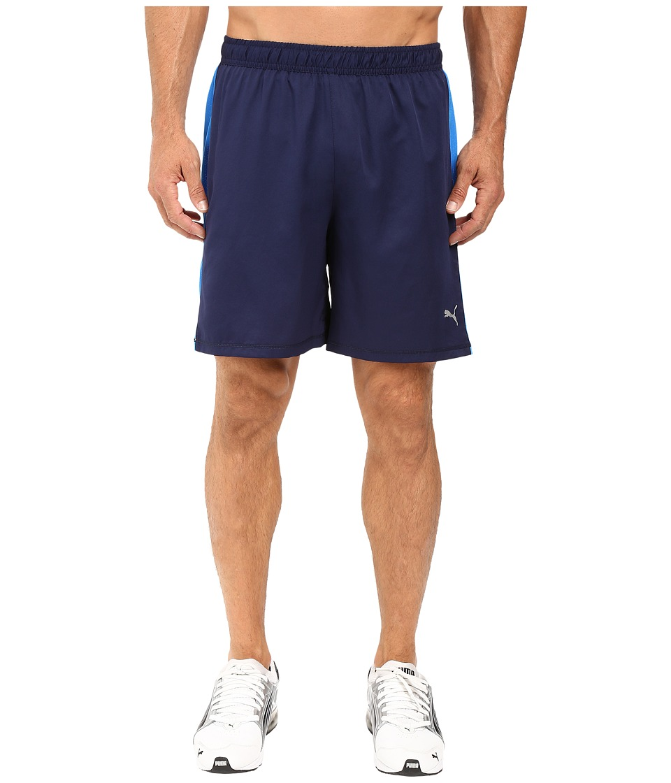 PUMA - PE Running 7 Shorts (Peacoat/Electric Blue Lemonade) Men's Shorts