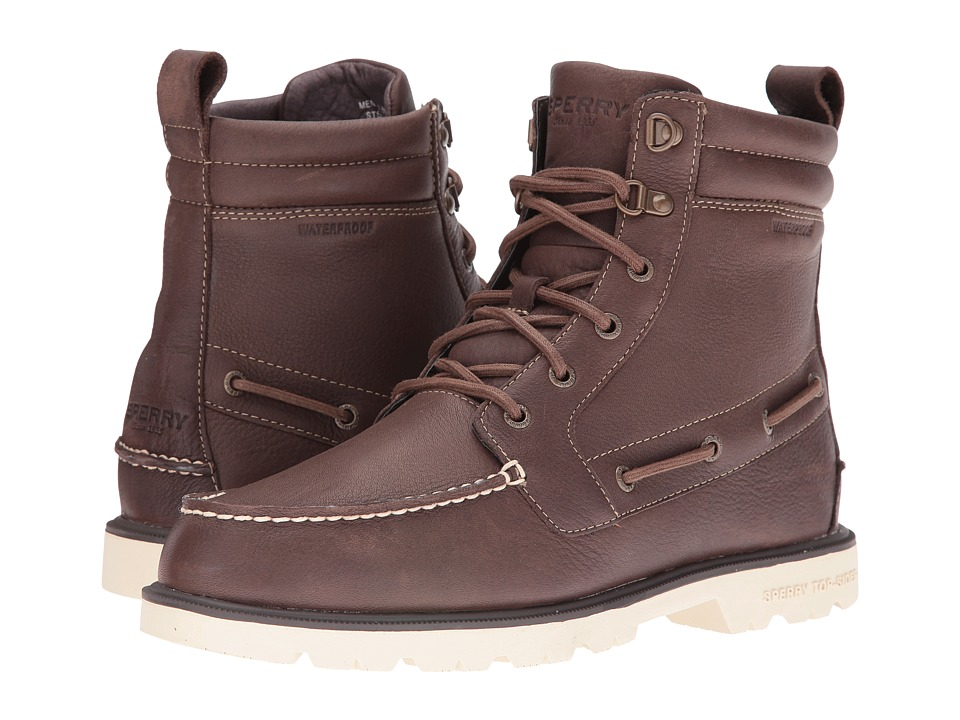 Sperry - A/O Lug Waterproof Boot (Dark Brown) Men's Lace-up Boots