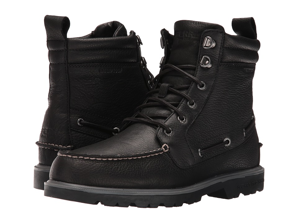 Sperry - A/O Lug Waterproof Boot (Black) Men's Lace-up Boots