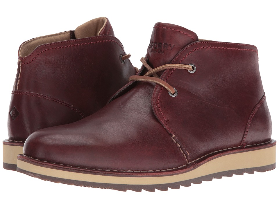 Sperry - Dockyard Chukka (Burgundy) Men's Lace-up Boots