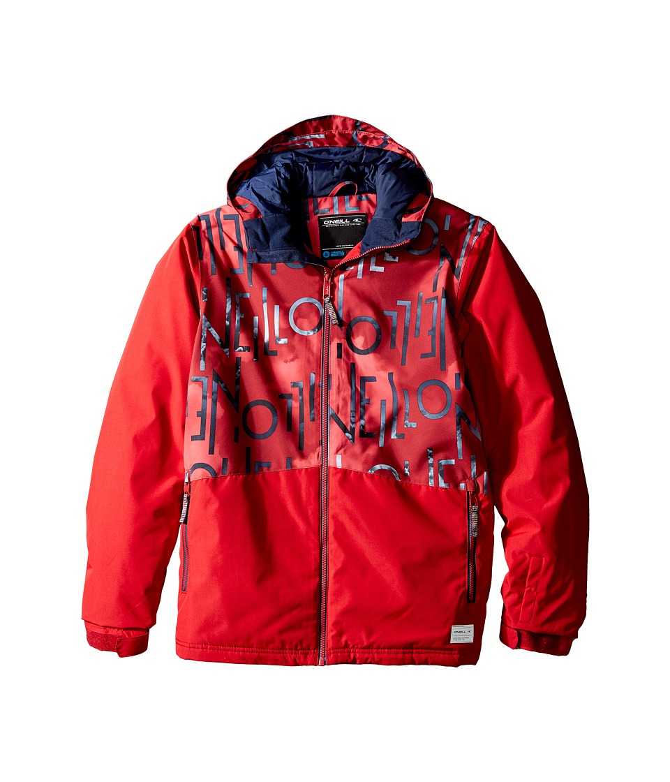 O'Neill Kids - Hubble Jacket (Little Kids/Big Kids) (Red Aop) Boy's Coat