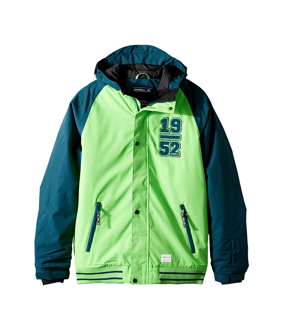 O'Neill Kids - Player Jacket (Little Kids/Big Kids) (Lime) Boy's Coat
