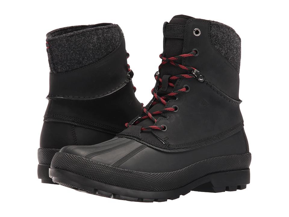 Sperry Cold Bay Sport Boot w/ Vibram Arctic Grip (Black) Men