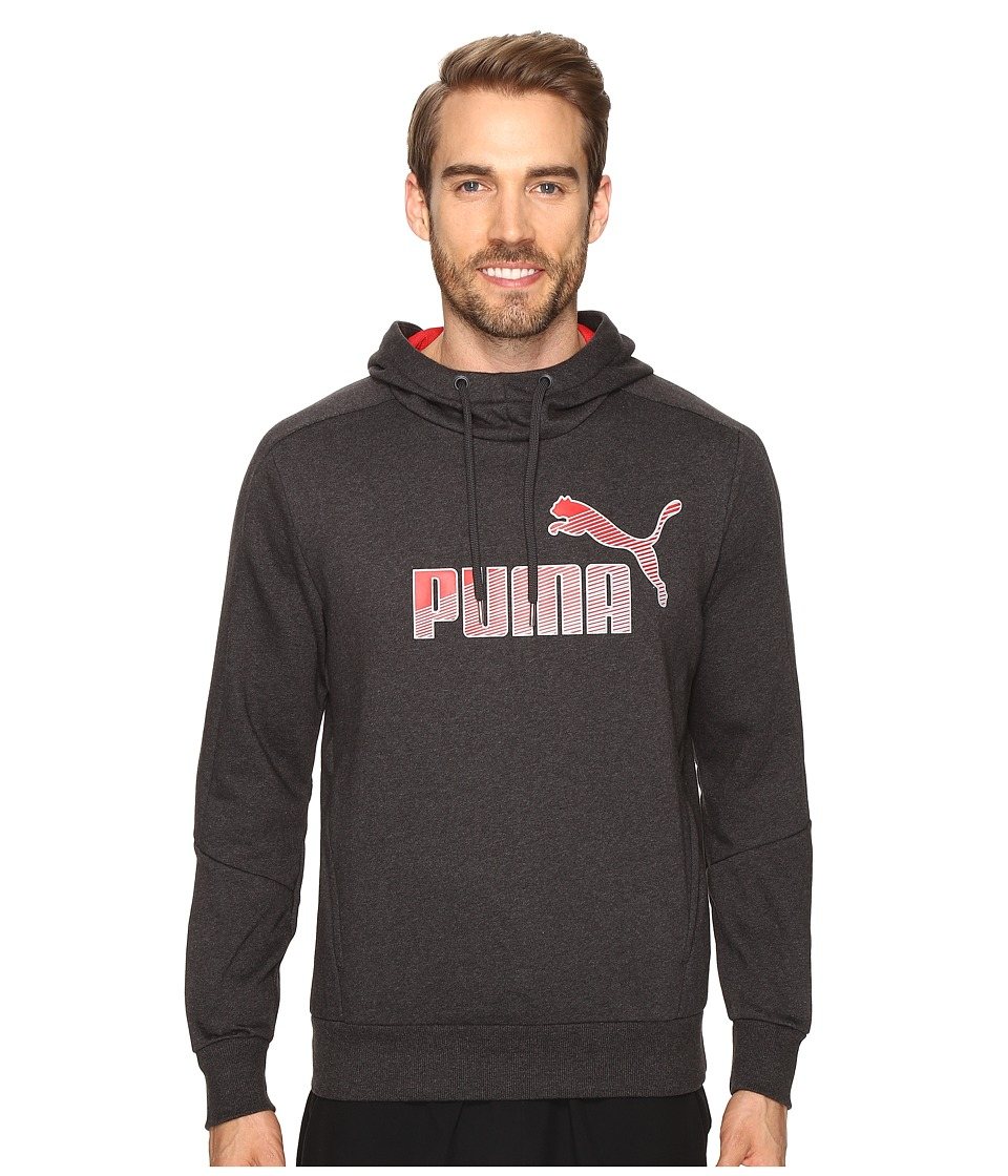 PUMA - Hero Fleece Hoodie (Dark Gray Heather) Men's Sweatshirt