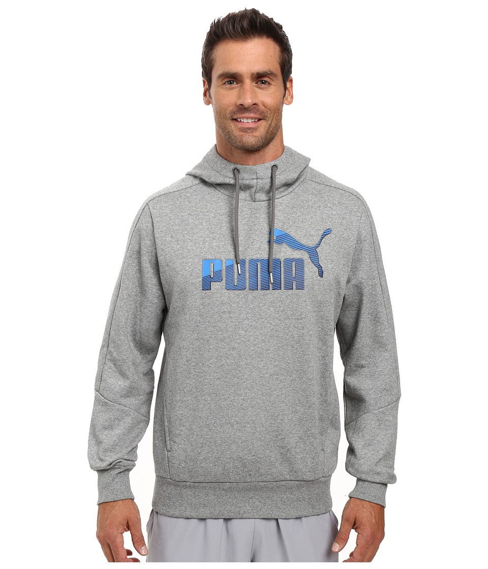 PUMA - Hero Fleece Hoodie (Medium Gray Heather) Men's Sweatshirt