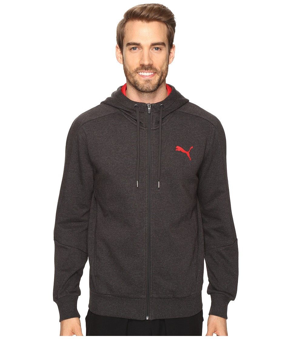 PUMA - Hero Full Zip Fleece Hoodie (Dark Gray Heather) Men's Sweatshirt