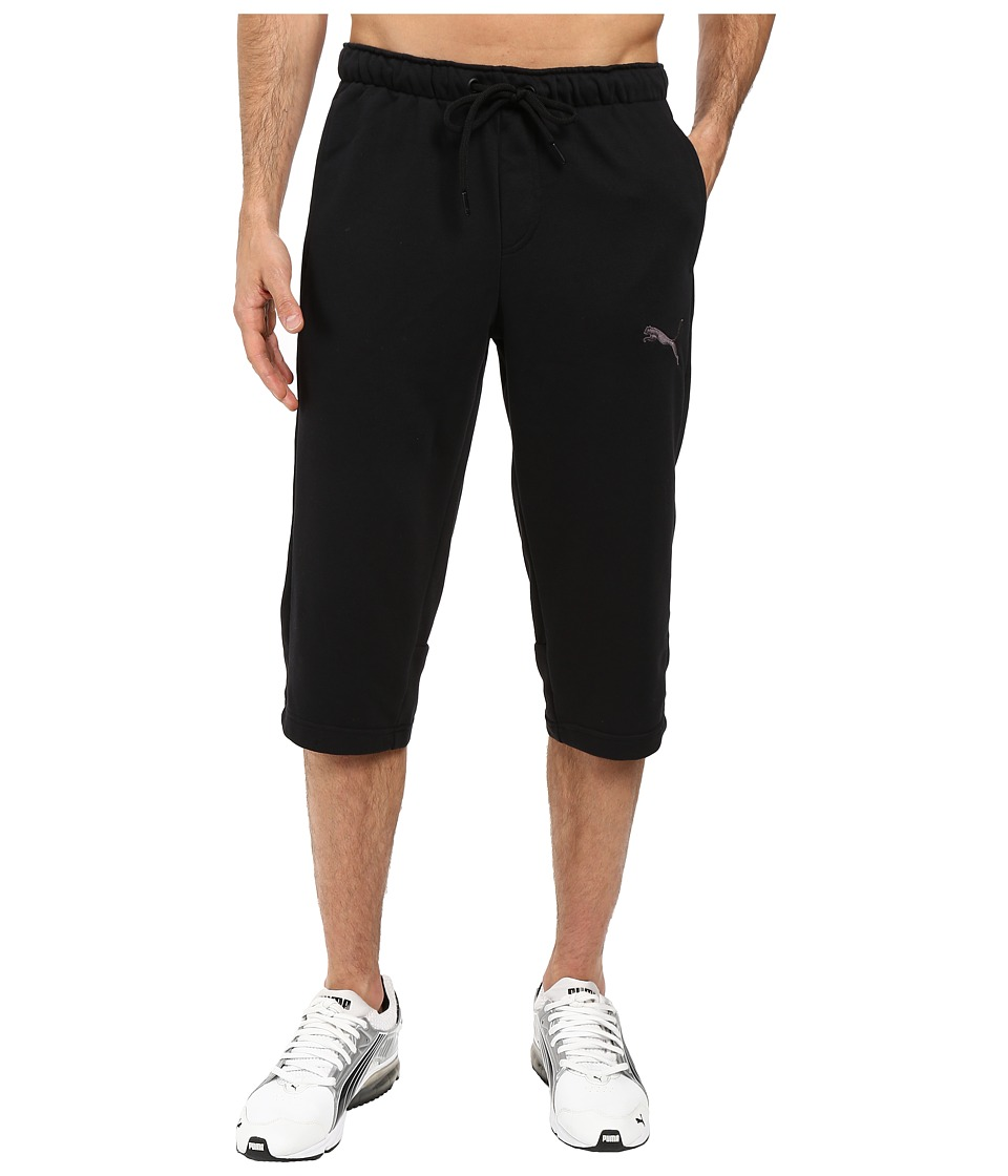 PUMA - P48 Core 3/4 Pants TR OP (Cotton Black) Men's Casual Pants