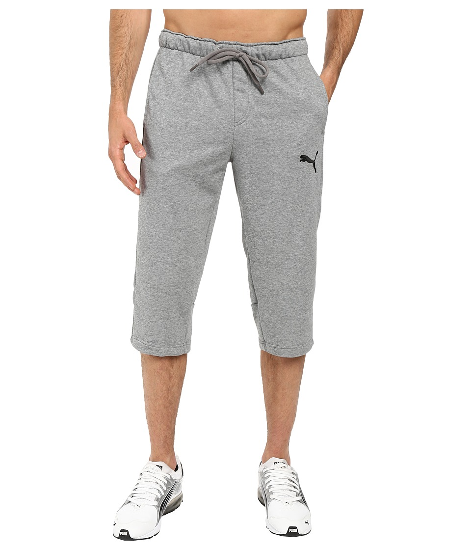 PUMA - P48 Core 3/4 Pants TR OP (Medium Gray Heather) Men's Casual Pants