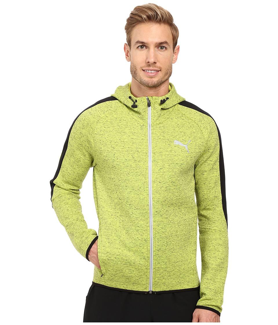 PUMA - Evostripe Proknit Full Zip Hoodie (Limepunch Heather) Men's Sweatshirt