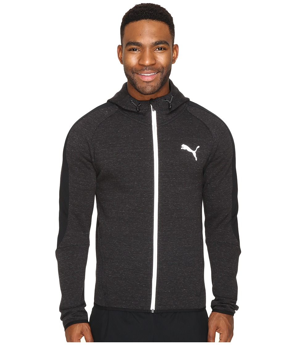 PUMA Evostripe Proknit Full Zip Hoodie (Cotton Black Heather) Men