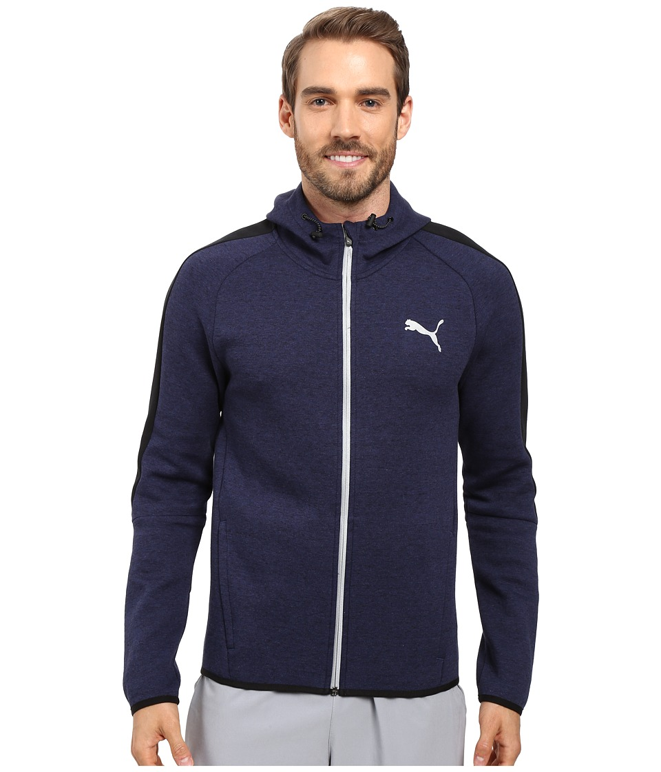 PUMA Evostripe Proknit Full Zip Hoodie (Peacoat Heather) Men