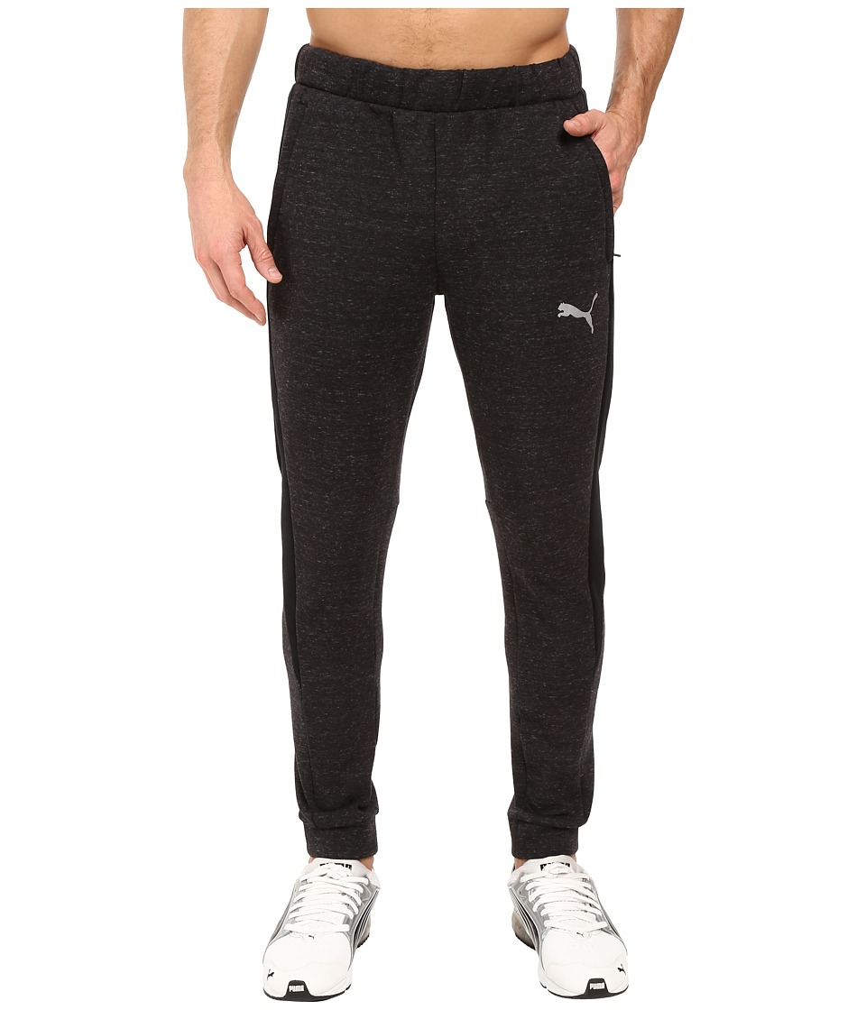 PUMA - Evostripe Proknit Pants (Cotton Black Heather) Men's Casual Pants