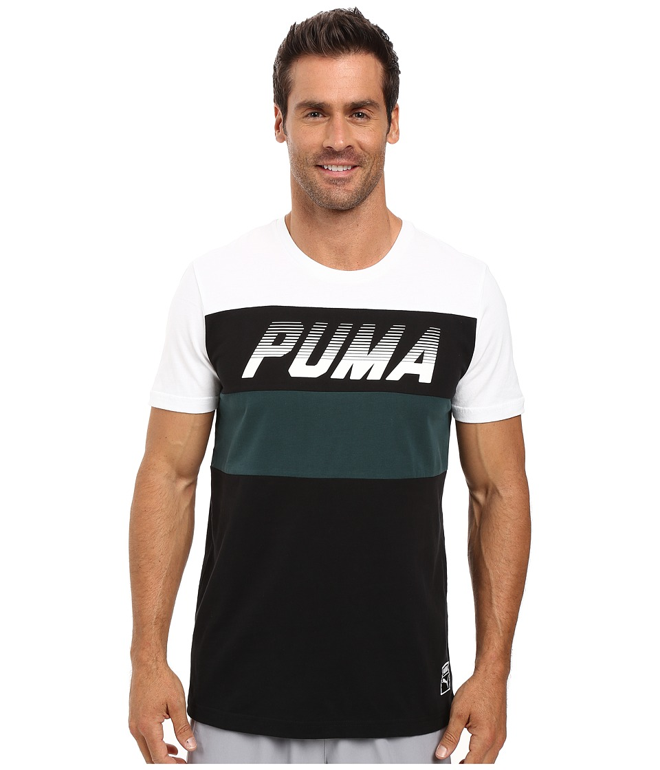 PUMA - Speed Font Tee (PUMA White) Men's T Shirt