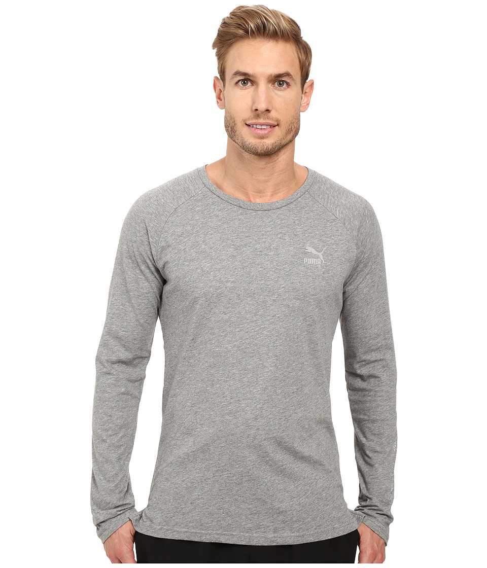 PUMA - Evo Core Long Sleeve Shirt (Medium Gray Heather) Men's Long Sleeve Pullover