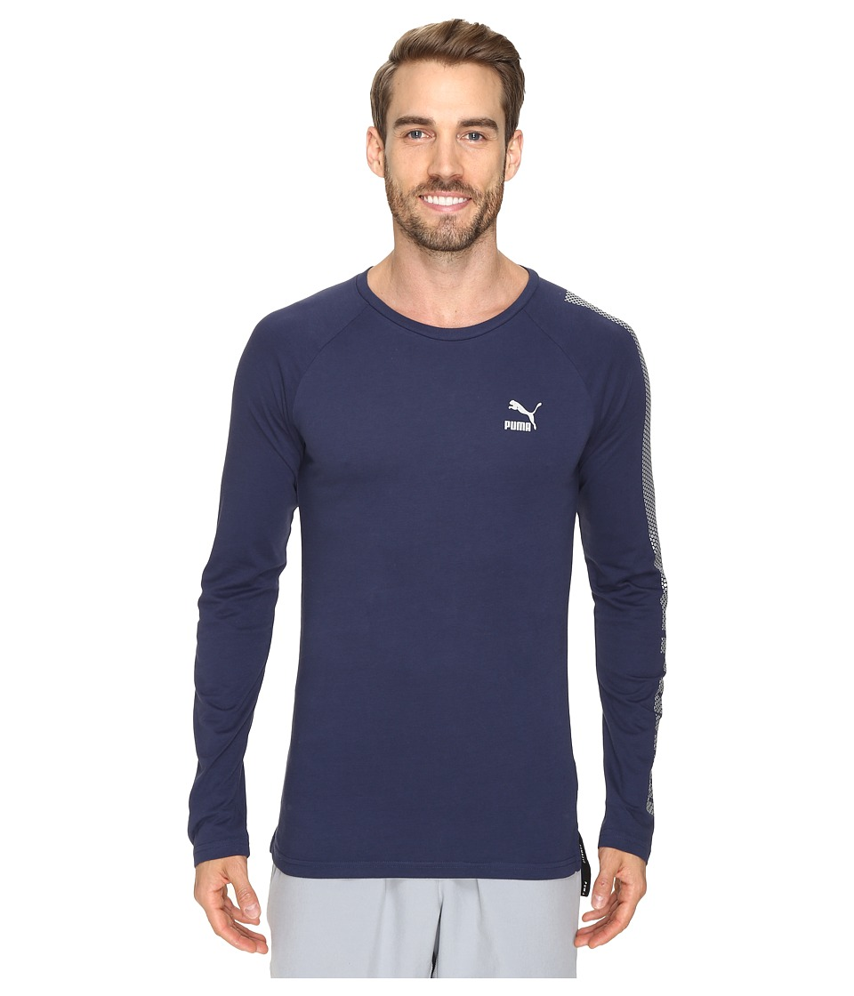 PUMA - Evo Core Long Sleeve Shirt (Peacoat) Men's Long Sleeve Pullover