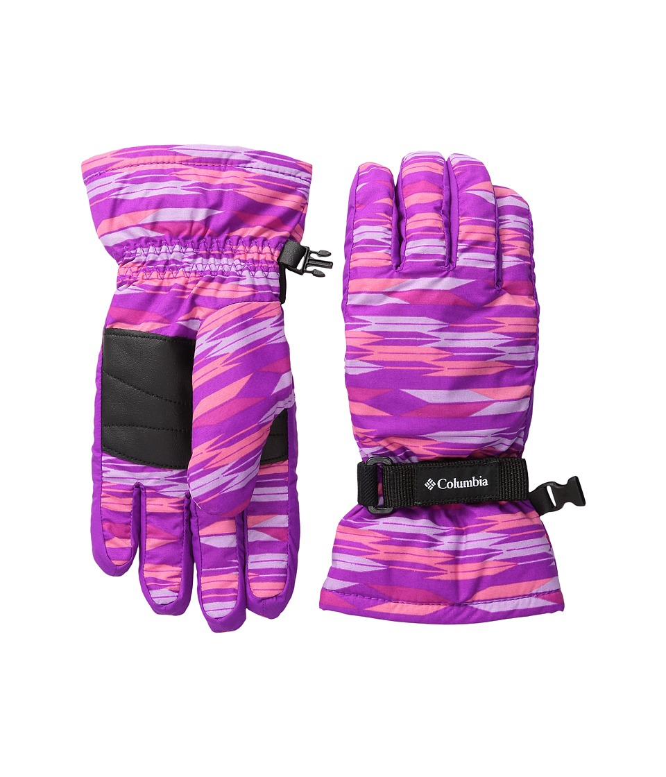 Columbia - Core Glove (Big Kids) (Bright Plum Arrows/Bright Plum) Extreme Cold Weather Gloves