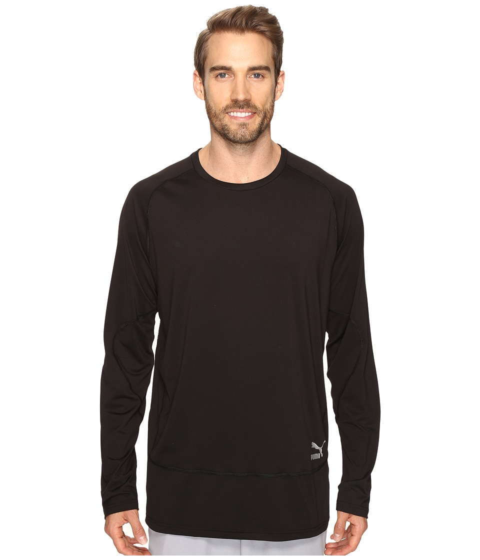 PUMA - Evo Long Sleeve Shirt (PUMA Black) Men's Long Sleeve Pullover