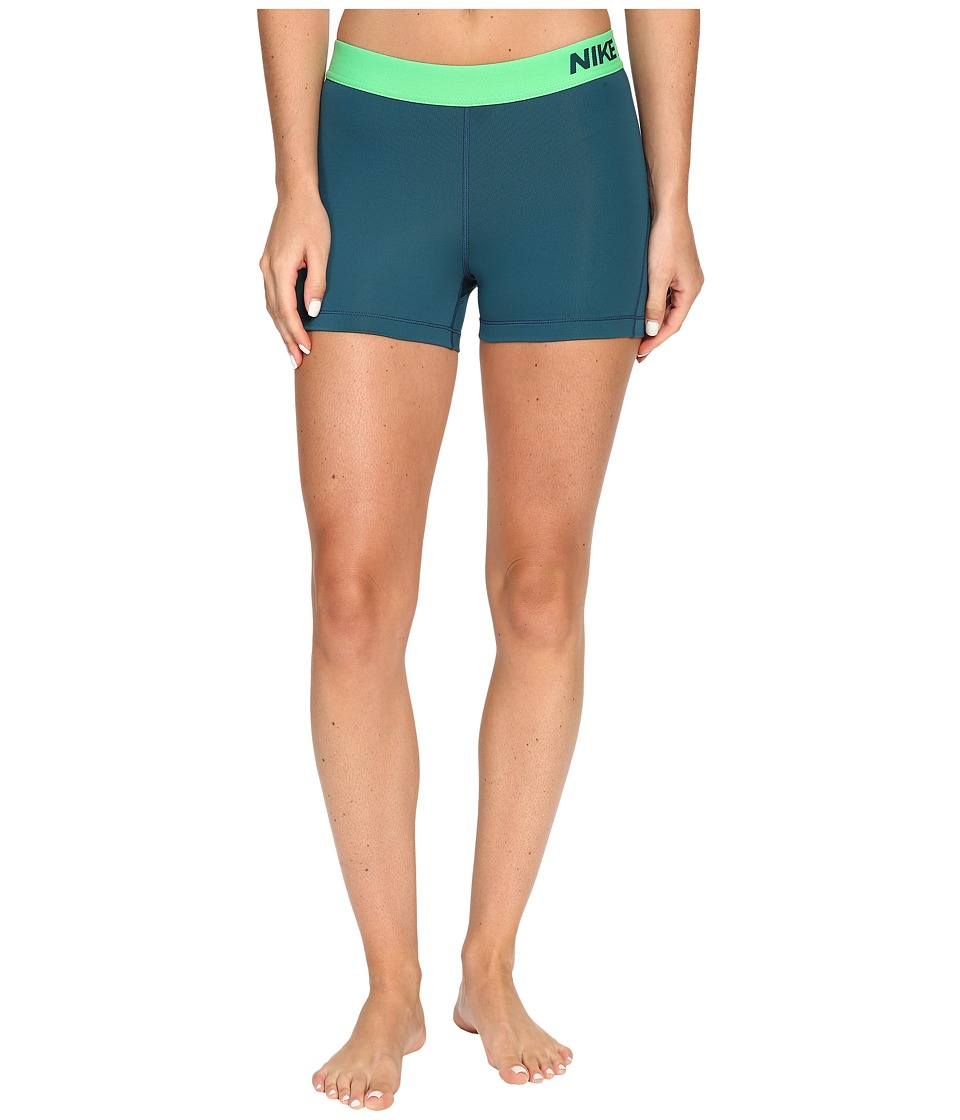 Nike Pro 3 Cool Compression Training Short (Midnight Turqoise) Women