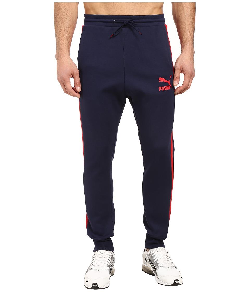 PUMA - T7 Track Pants (Peacoat) Men's Casual Pants