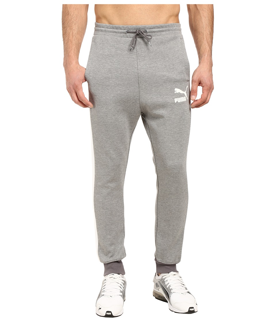 PUMA - T7 Track Pants (Medium Gray Heather) Men's Casual Pants