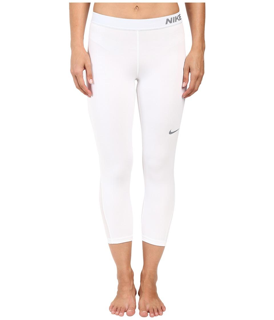 Nike - Pro Cool Capris (White) Women's Capri