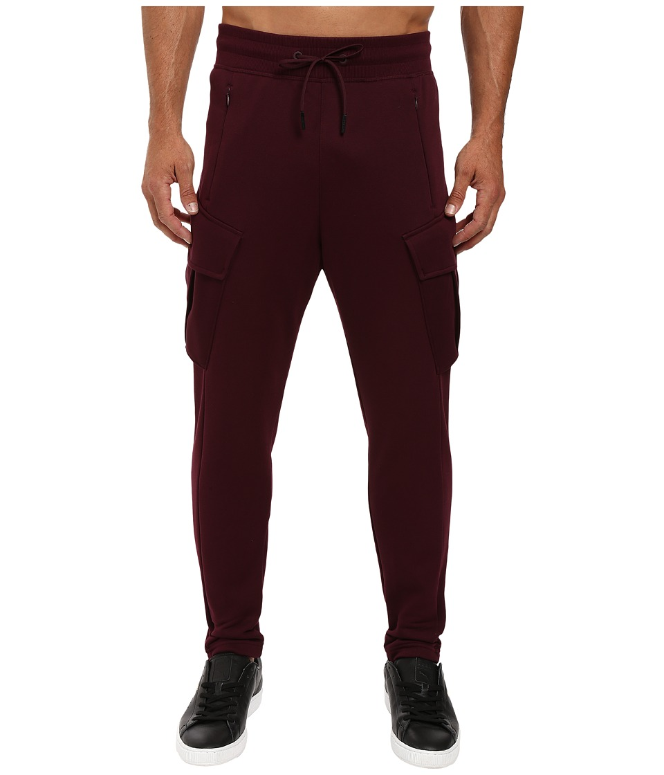 PUMA - Evo Cargo Fleece Pants (Winetasting) Men's Casual Pants