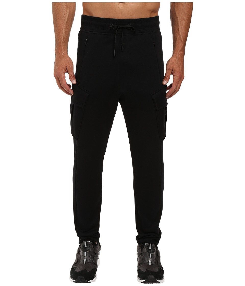 PUMA - Evo Cargo Fleece Pants (Cotton Black) Men's Casual Pants