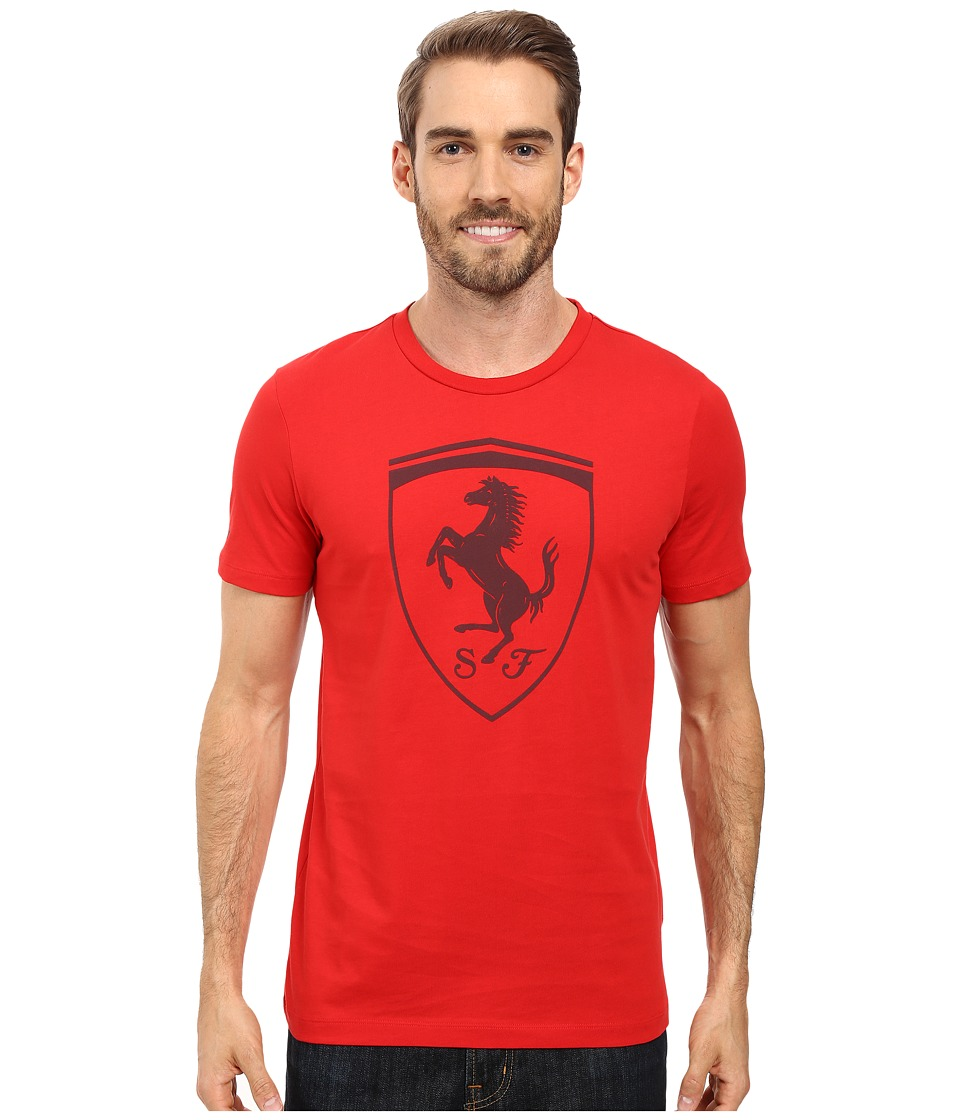 PUMA - Ferrari Big Shield Tee (Rosso Corsa) Men's T Shirt