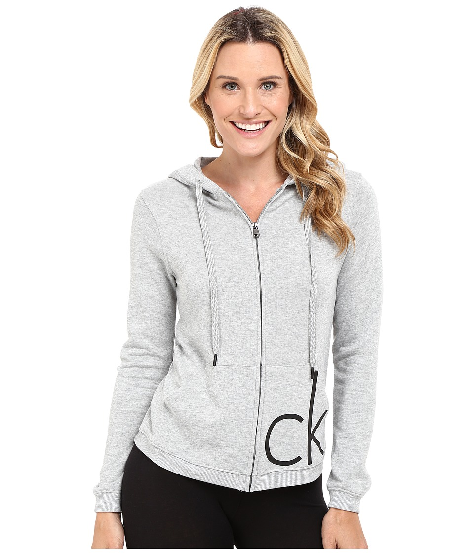 Calvin Klein Underwear - Lounge Hoodie (Grey Heather) Women's Sweatshirt