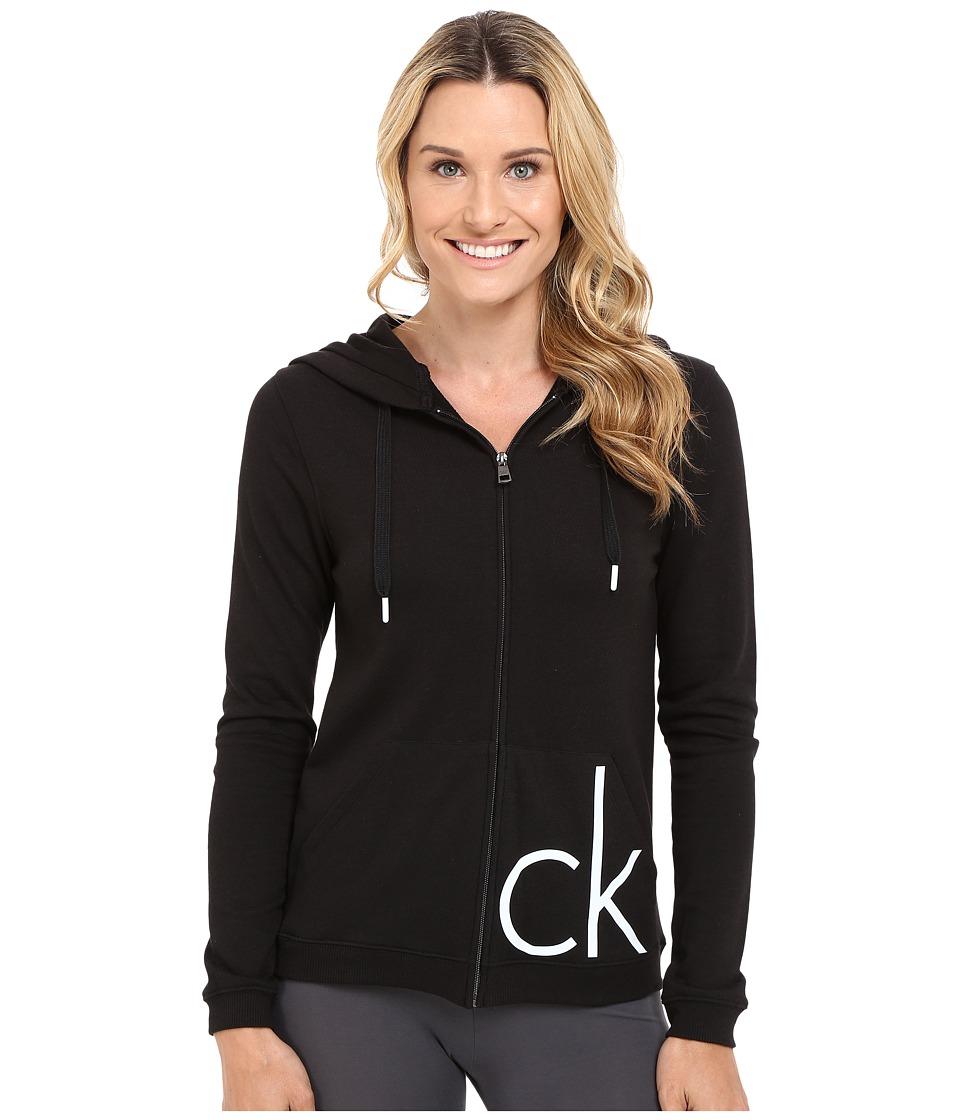 Calvin Klein Underwear - Lounge Hoodie (Black) Women's Sweatshirt