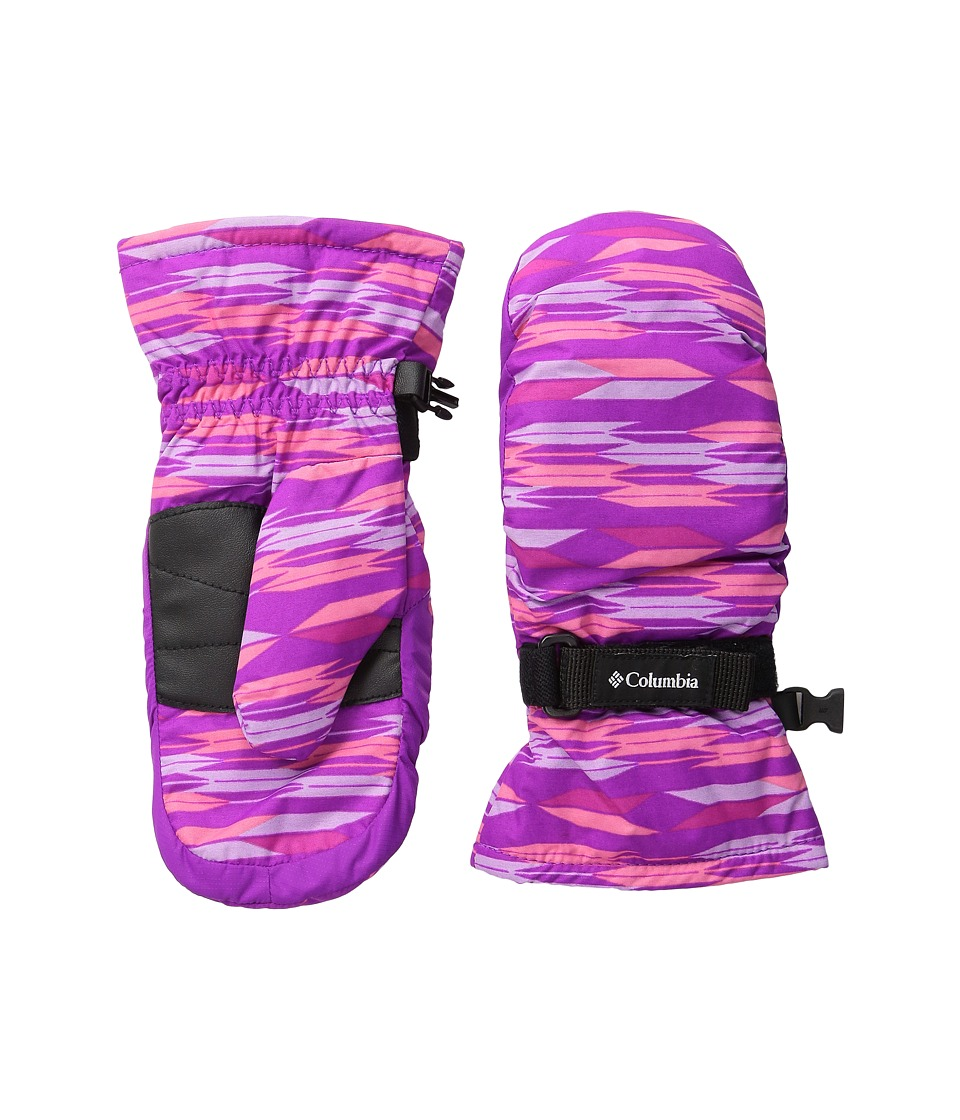 Columbia Core Mitten (Big Kids) (Bright Plum Arrows/Bright Plum) Extreme Cold Weather Gloves