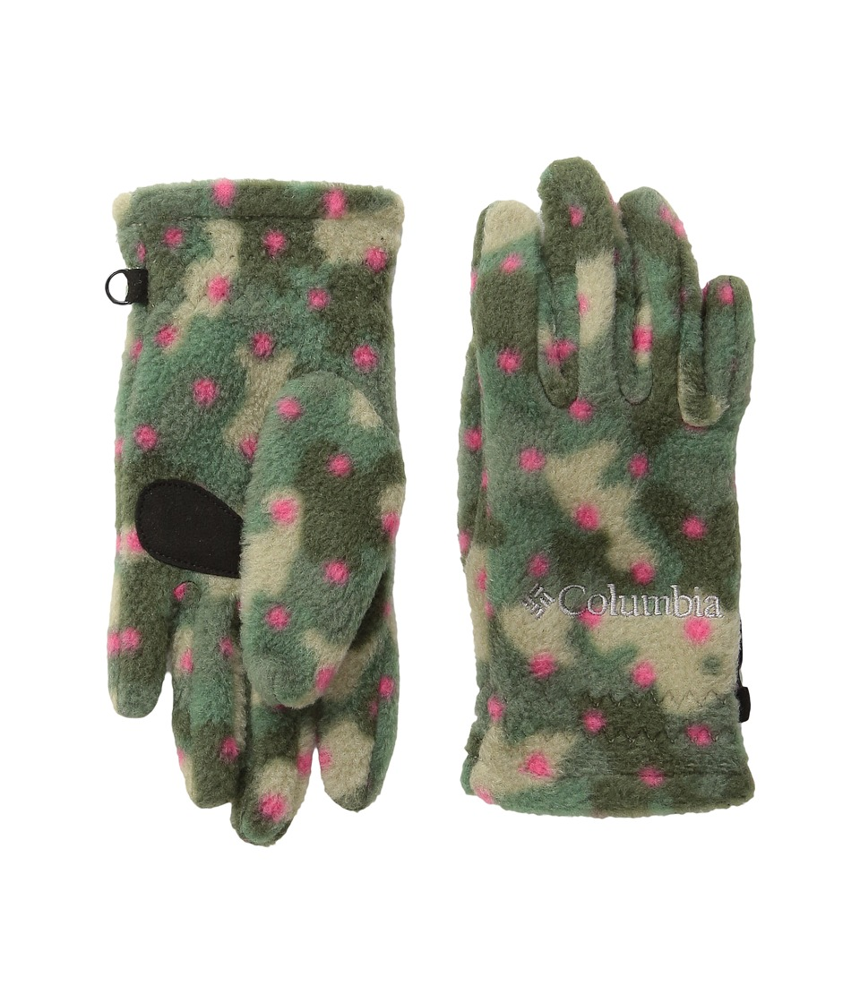 Columbia - Fast Trek Glove (Big Kids) (Punch Pink Camo Dot Print) Extreme Cold Weather Gloves