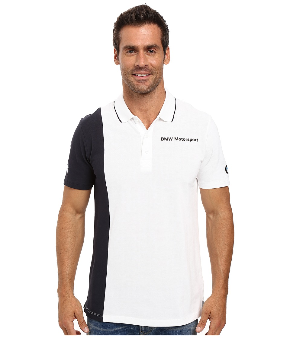 PUMA - Bmw Msp Polo (PUMA White) Men's Short Sleeve Knit