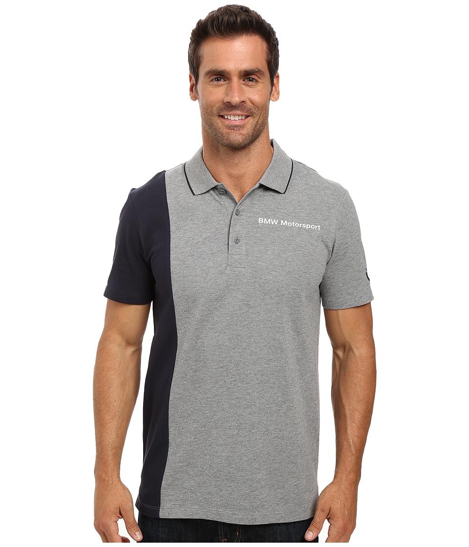 PUMA - Bmw Msp Polo (Medium Gray Heather) Men's Short Sleeve Knit