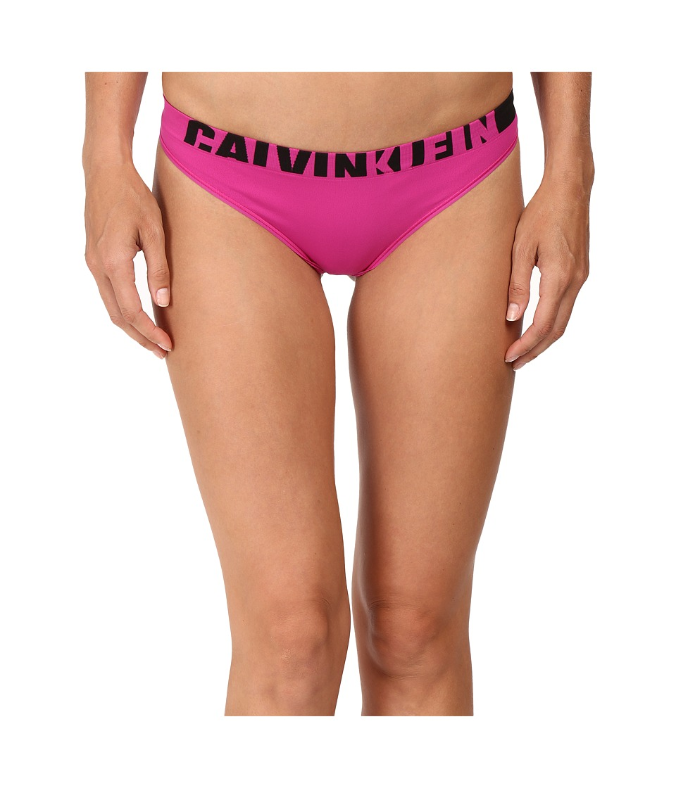 Calvin Klein Underwear - Logo Cotton Thong (Striking) Women's Underwear