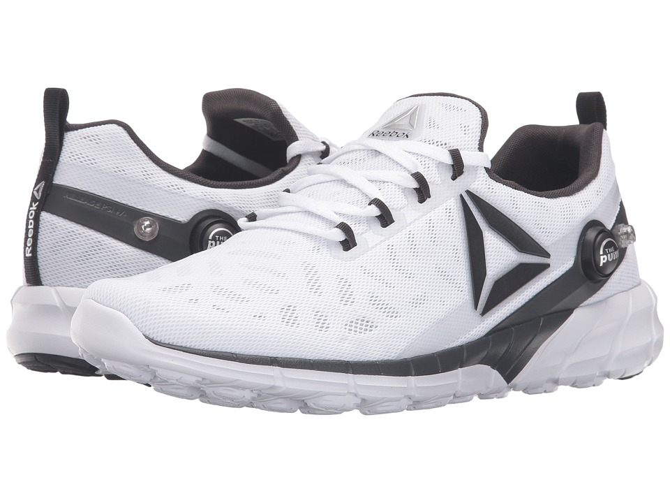 Reebok - ZPump Fusion 2.5 (White/Skull Grey/Black/Coal/Silver Metallic) Men's Running Shoes