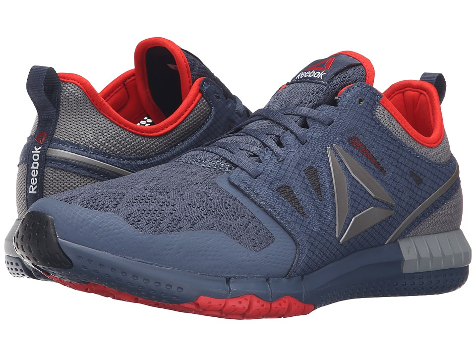 Reebok - ZPrint 3D (Royal Slate/Coal/Flat Grey/Riot Red/Pewter) Men's Running Shoes