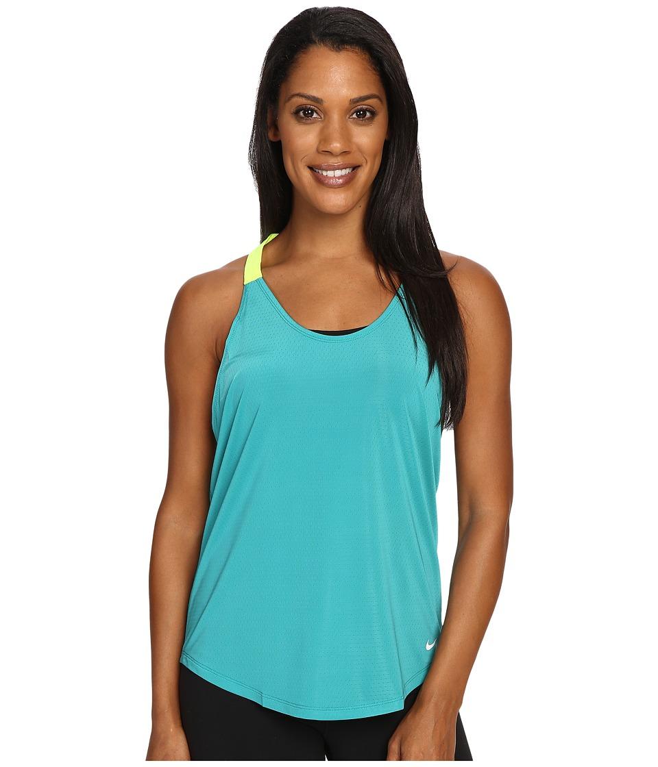 Nike - Elastika Elevate Just Do It Training Tank Top (Teal Charge) Women's Sleeveless